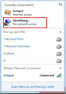 hostednetwork berhasil dibuat namun belum terkoneksi dengan internet