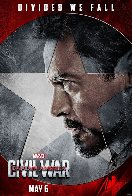 "Captain America Civil War ""Team Iron Man"" Character Movie Poster Set - Robert Downey Jr. as Iron Man"