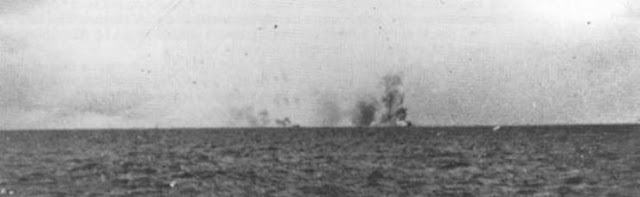 WW2 Battle of Atlantic Hunt for Bismarck  Fatal explosion of HMS Hood as seen from Prinz Eugen at 0600-0601