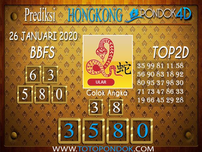 Prediksi Togel HONGKONG PONDOK4D 26 JANUARI 2020