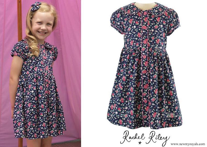 Princess Charlotte wore Rachel Riley Floral Button Front Dress