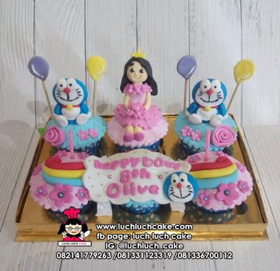 Doraemon Cupcake Untuk Anak Cewek