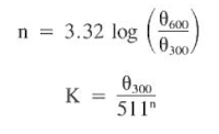 Power Law Equation For floe regimes drilling mud