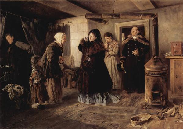 Маковский Владимир Егорович - Посещение бедных. 1874
