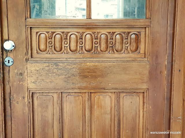 drzwi drewno Warszawa Warsaw kamienica Śródmieście architektura architecture Józef Czerwiński Władysław Heppen Elektrownia Warszawska przedwojenna