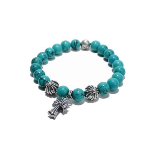 5c82a0713a Chrome Hearts Turquoise Beads Bracelet Cross