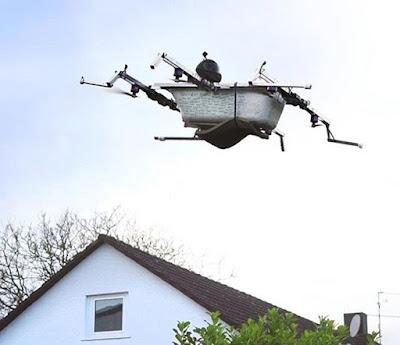 Gokil, Pria Ini Membuat Drone Bak Mandi Terbang