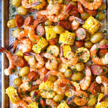 SHEET PAN SHRIMP BOIL #dinner #yummy #shrimp #mushroom #cauliflower