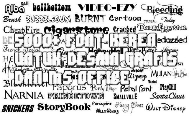 5000+ Font Keren untuk Desain Grafis