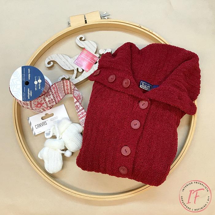 DIY Winter Embroidery Hoop Supplies
