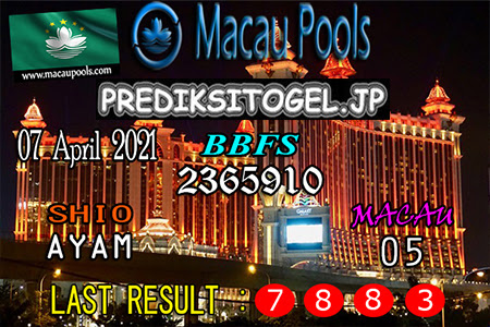 Prediksi Wangsit Togel Macau Rabu 07 April 2021