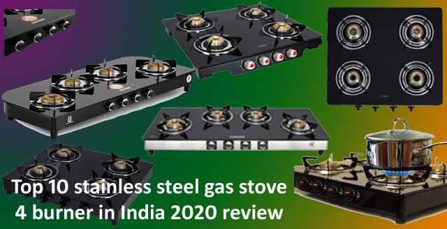 Top 10 stainless steel gas stove 4 burner in India 2020 review