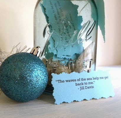 inspirational Christmas jar with quotes