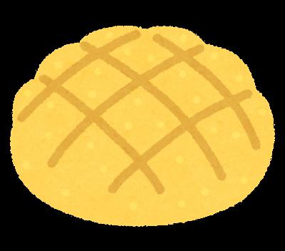 普通のメロンパンのイラスト