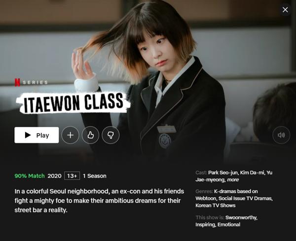 Drama korea Popular di Netflix Itaewon Class