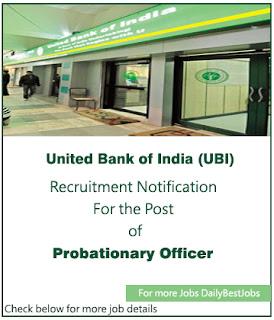 UBI Job United Bank of India