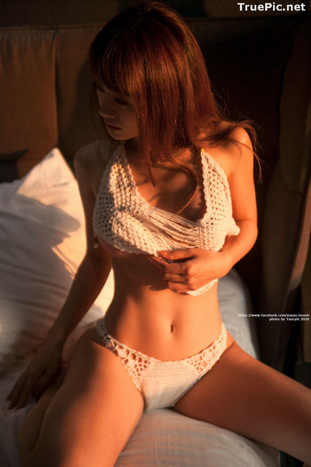 Image Taiwanese Model - Xin Ya - White Lace Lingerie For You - TruePic.net - Picture-10