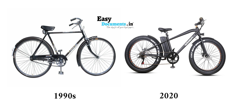 Bicycle in 90s vs 2020