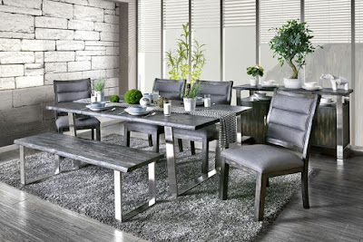 Keller modern rustic dining room furniture