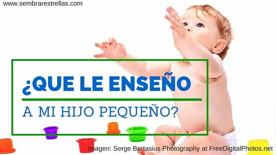 Pequeñas recomendaciones para enseñar a un bebé desde mates, hasta ciencias, y la sugerencia de crear un calendario sencillo para el mes completo