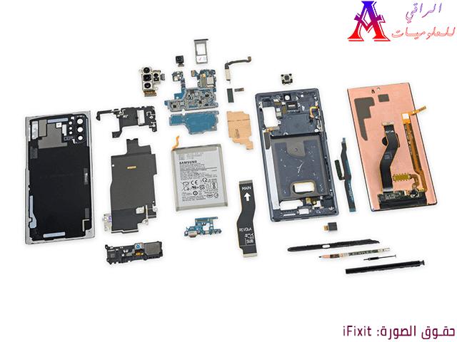 فريق iFixit يمنح هاتف Galaxy Note 10 درجة إصلاح تبلغ 3