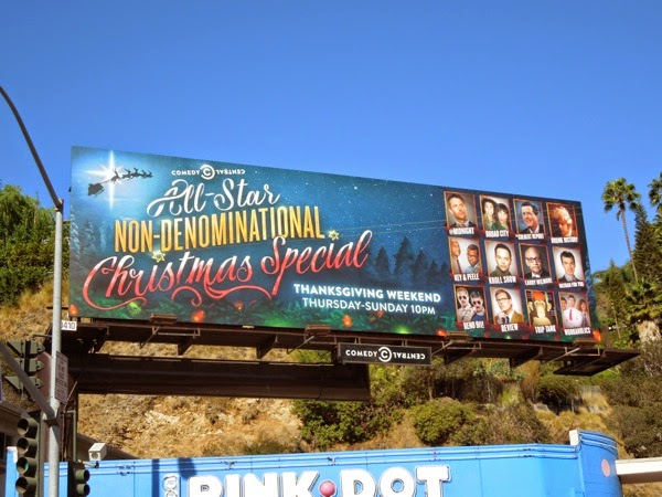 Comedy Central Non-Denominational Christmas Special billboard