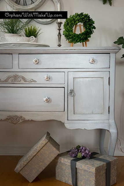 holiday sideboard