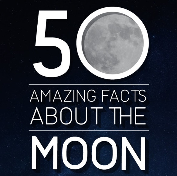 50 Amazing Facts About the Moon #infographic