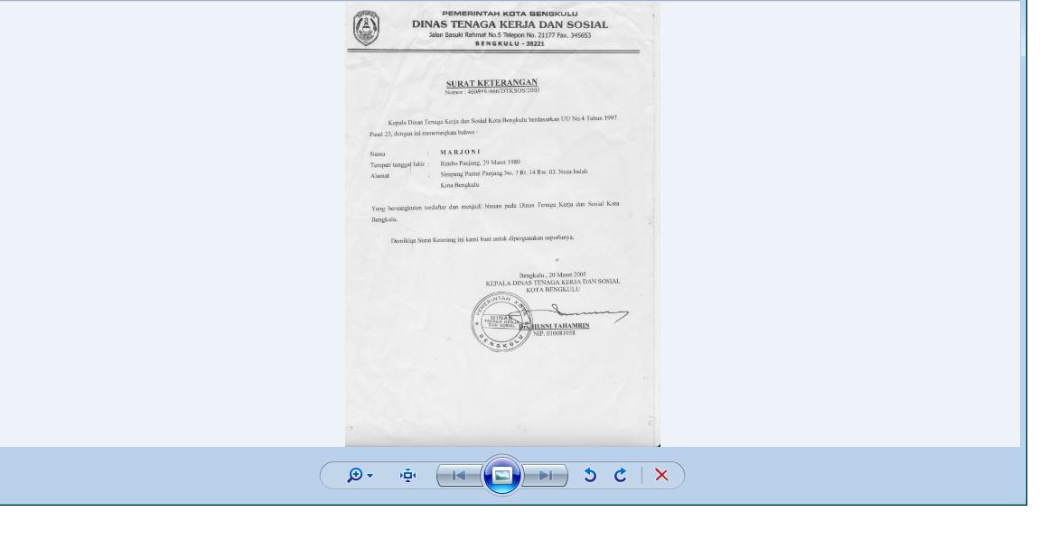 Surat Keterangan Pijat Plus urut binaan Sosial  Kota Bengkulu