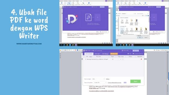 mengubah file pdf ke microsoft word dengan wps writer 1