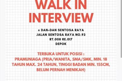 Info Lowongan Kerja Dandan Pramuniaga Depok
