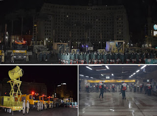Egyptian army sensitizing major public squares in the  country in Cairo