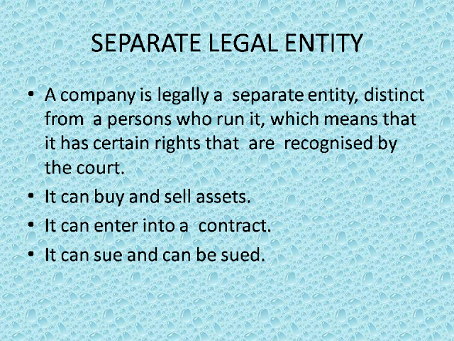 seperate legal entity salamon case The principle of legal entity principle postulates that each company in a corporate group is treated as a separate legal entity distinct from other companies within the group, and as such exercises legal powers in that regard this is confirmed in the house of law in the case of salomon vs salomon.