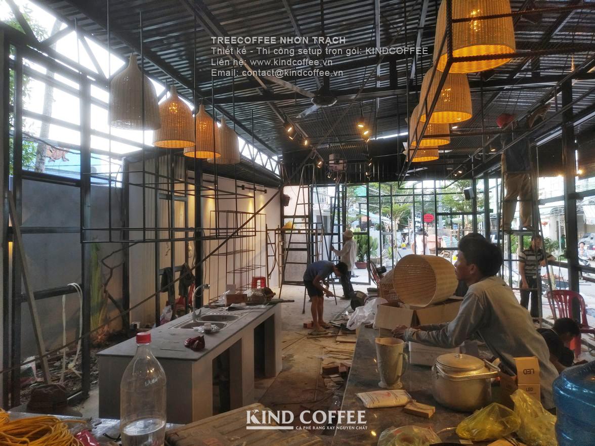 Mô hình quán cafe khung thép tiền chế đẹp