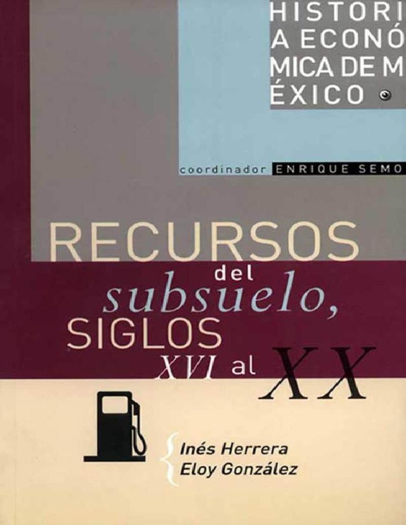 Recursos del subsuelo, siglos XVI al XX – Inés Herrera