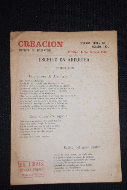Escrito en Arequipa (Tres poemas de Enrique Lihn)