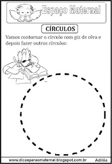 Desenho de círculo pontilhado