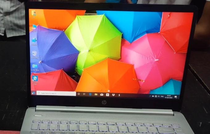 Technical Specs of HP 14s DR1009TU laptop.
