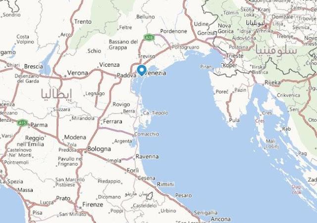 خريطة فندق بالازيتو مادونا في البندقية إيطاليا Hotel Palazzetto Madonna Venice Map