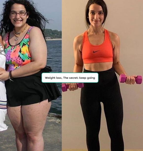 Weight loss, The secret: keep going