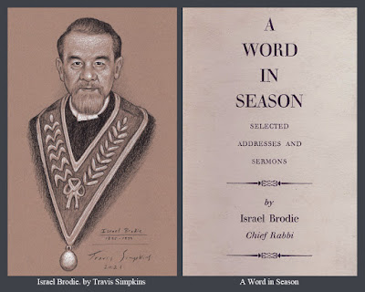 Israel Brodie. Chief Rabbi of Great Britain. United Grand Lodge of England. Freemason. by Travis Simpkins