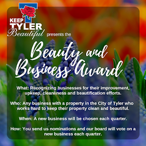 Nominate a business that helps keep Tyler beautiful