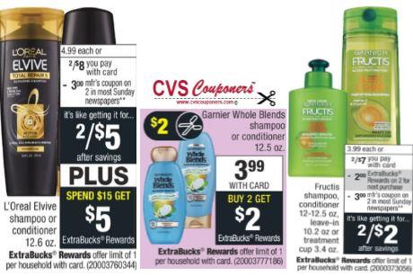 FREE Loreal, Garnier fructis & Whole Blends CVS Deal - 9/8-9/14