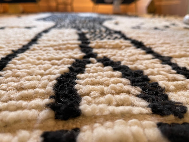 close-up of wool rug