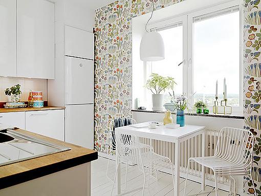 Arm rio colorido na cozinha jeito de casa blog de decora o e arquitetura - Modelos de papel pintado ...