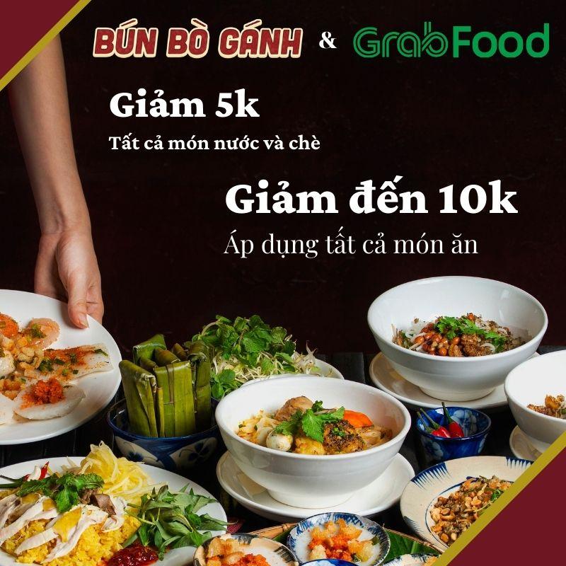 Bún Bò Gánh Giảm 10K Tất Cả Món Ăn, Giảm 5K Các Món Chè Và Nước Khi Đặt Món Trên Grabfood