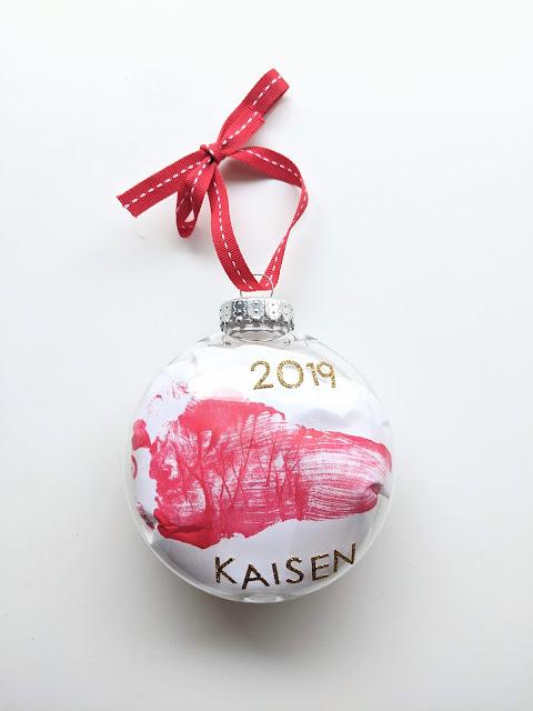 DIY footprint Christmas ornament