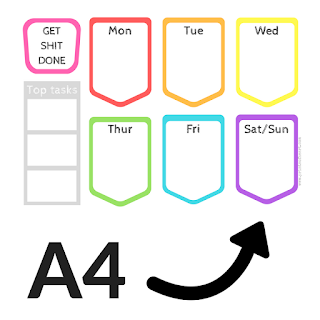 free weekly planners