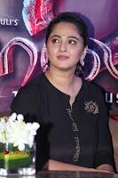 Actress Anushka Shetty Stills in Black Gurthi at Baahubali 2 Press Meet  0007.jpg