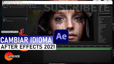 cambiar idioma after effects